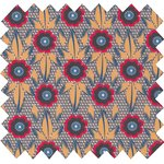 Cotton fabric fleurs de savane - PPMC