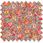 Cotton fabric peach flower - PPMC
