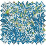 Cotton fabric blue forest - PPMC