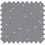 Cotton fabric gauze gray gold - PPMC