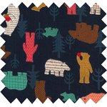 Tissu coton grizzli - PPMC