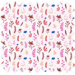 Cotton fabric herbier rose - PPMC