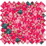 Cotton fabric ruby lili - PPMC