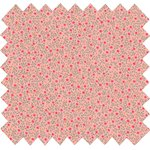 Cotton fabric mini pink flower - PPMC