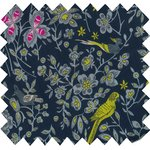 Cotton fabric night of birds - PPMC