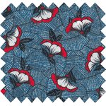 Cotton fabric flowered night - PPMC