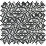 Cotton fabric octogone noir ex1003 - PPMC