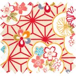 Cotton fabric flowers origamis  - PPMC