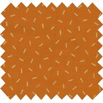 Cotton fabric caramel golden straw - PPMC