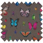 Cotton fabric multicolored butterfly - PPMC