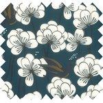 Cotton fabric paradis bleu - PPMC