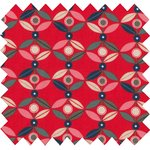 Cotton fabric paprika petal - PPMC