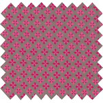 Cotton fabric grey pink petals - PPMC