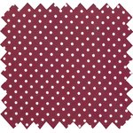 Cotton fabric pois bordeaux - PPMC