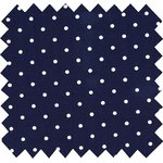 Cotton fabric navy blue spots - PPMC