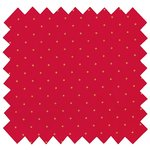 Cotton fabric pois or rouge - PPMC