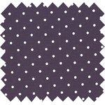 Tissu coton pois prune - PPMC