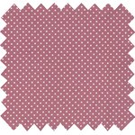 Cotton fabric pois vieux rose - PPMC