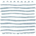 Coupon tissu 50 cm striped blue gray glitter - PPMC