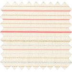 Cotton fabric silver pink striped - PPMC