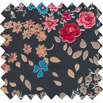 Cotton fabric silvery rose - PPMC