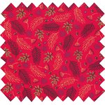Cotton fabric tiges rouges de noël - PPMC