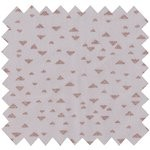 Cotton fabric triangle cuivré gris - PPMC