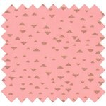 Cotton fabric powdered gold triangle - PPMC