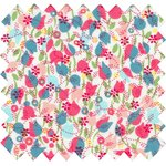 Cotton fabric pastel tulip - PPMC