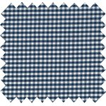 Cotton fabric navy blue gingham - PPMC