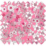 Cotton fabric pink violette - PPMC