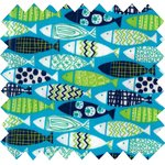 Coated fabric shoal of fish - PPMC