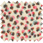 Coated fabric confetti aqua - PPMC