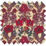 Coated fabric coquelicot rouge - PPMC