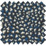 Tissu enduit  eclats bleu nuit - PPMC