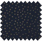 Coated fabric navy gold star - PPMC