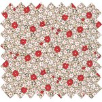 Coated fabric red flower - PPMC