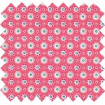 Coated fabric small flowers pink blusher - PPMC