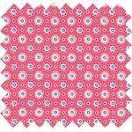 Tela plastificada pequeñas flores  rosadas - PPMC