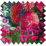 Coated fabric flowered garden - PPMC
