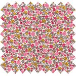 Coated fabric pink jasmine - PPMC