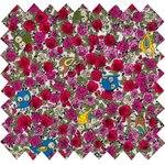 Coated fabric fuchsia owl - PPMC
