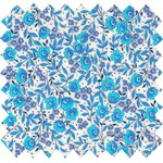 Coated fabric azure mini flower - PPMC