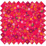 Coated fabric coral mini flower - PPMC