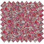 Coated fabric paprika mini flower - PPMC