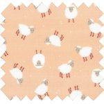 Coated fabric pink sheep - PPMC
