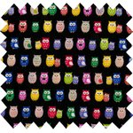 Coated fabric multicolored owl - PPMC