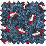 Coated fabric flowered night - PPMC