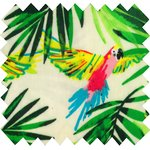 Coated fabric green parrot - PPMC