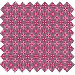 Coated fabric grey pink petals - PPMC